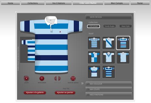 rugby - entrée dans le configurateur