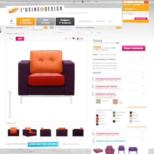 l 39 usine design nouvelle version blog e commerce. Black Bedroom Furniture Sets. Home Design Ideas