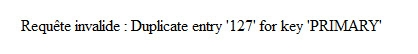 saisie email le tanneur - message erreur