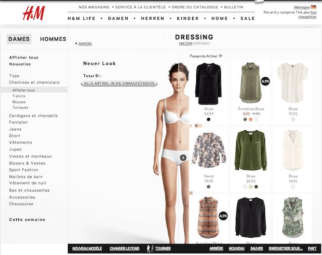 Mannequin pour le site H&M